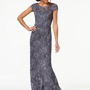 NWT Adrianna Papell beaded lace gown sz 6